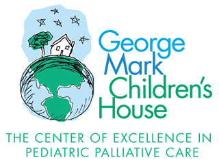 George Mark Children's House Logo of a house on top of planet earth