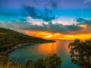 Beachfront bali sunset